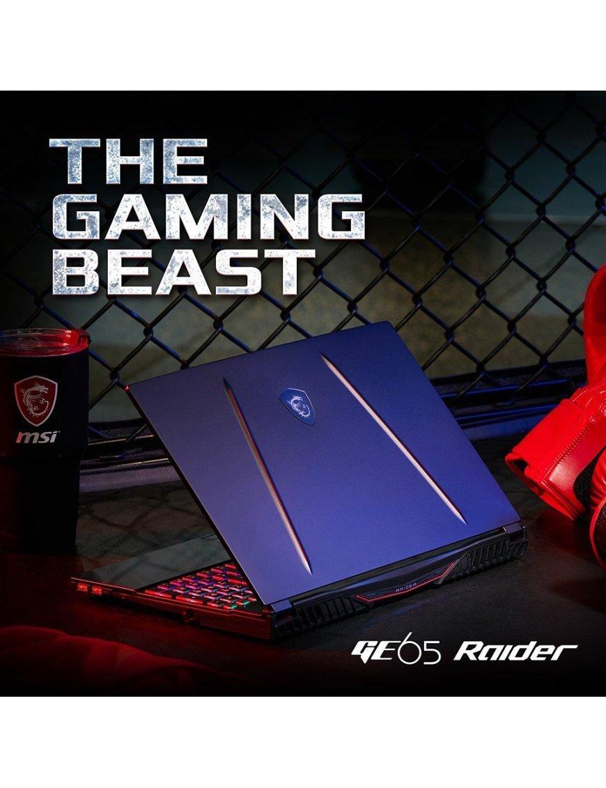 "MSI GE65 Raider 9SE - Notebook - 15.6"" - 1920 x 1080 - Intel Core i7 i7-9750H - 16 GB DDR4 SDRAM - 256 GB SSD - Windows 10 Home"