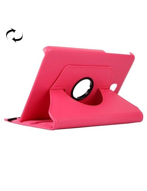 Estuche Fucsia con Soporte con Rotacion para Galaxy Tab E 9.6 / T560 / T561