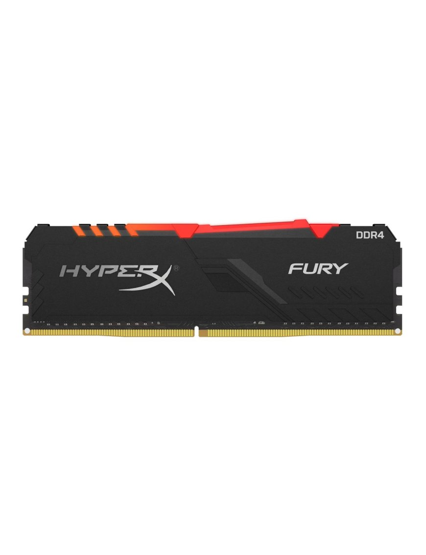 HyperX FURY RGB - DDR4 - 8 GB - DIMM de 288 espigas - 3466 MHz / PC4-27700 - CL16 - 1.35 V - sin bú HX434C16FB3A8