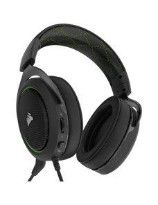 CORSAIR Gaming HS50 STEREO - Auricular - tamaño completo - cableado - conector de 3,5 mm - verde CA-9011171-NA