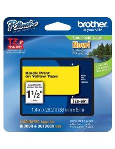 Brother TZe-661 Negro sobre Amarillo, 36mm x 8mm - Imagen 1