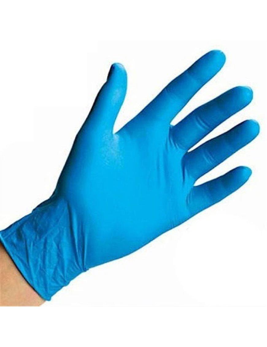 Guante examen nitrilo azul Talla S, caja de 100 pcs