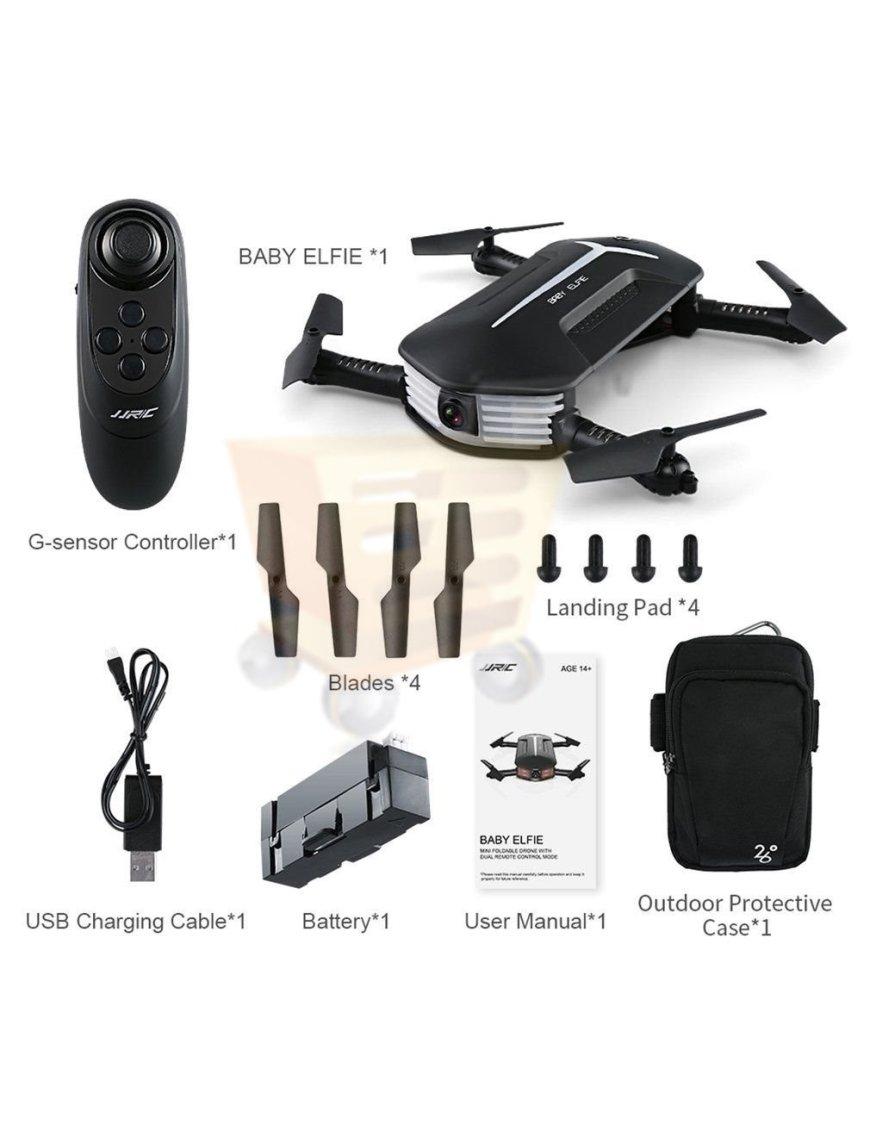 Drone Jjrc H37 Selfie Fpv Wifi Camara 2 Mp Plegable de bolsillo