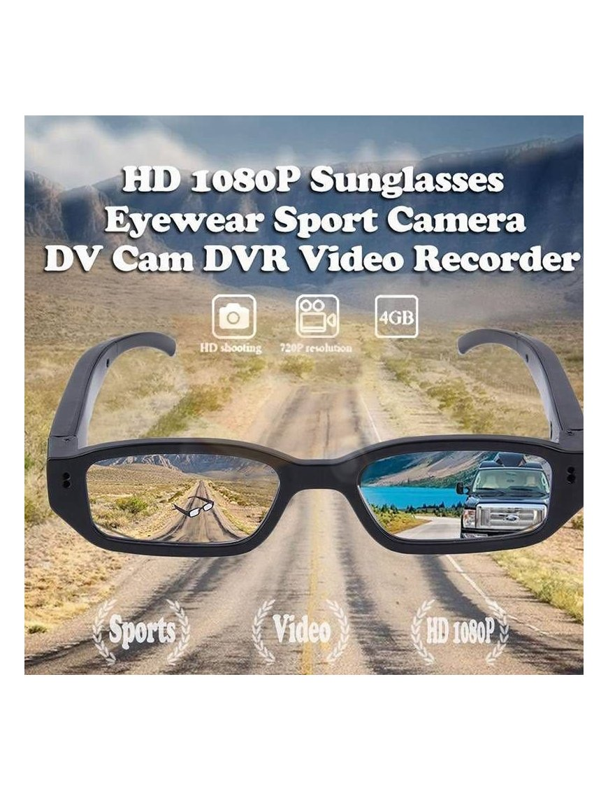 Lentes con Camara Espía HD 1080p, 5 Mega Pixels, Mini DVR, Videos y Fotos
