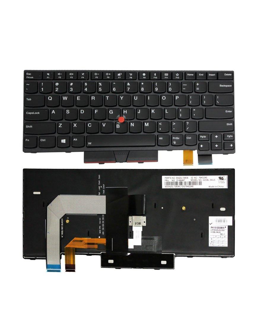 Teclado en ingles Lenovo IBM ThinkPad T470 01AX569 SN20L72890 01AX487 Backlit Keyboard US
