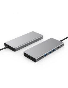 Hub USB-C / hdmi-ethernet-sd-usb 3.0-usb-c / MacBook - Notebook