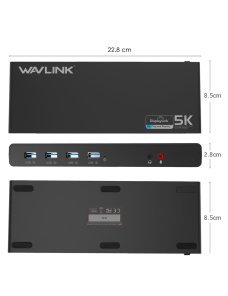 Hub Docking  WAVLINK USB 3.0 & USB C Ultra Dual 4K Universal Laptop Docking Station with USB
