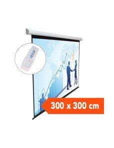 TELON ELECTRICO DINON 3,00 X 3,00 METROS CON C/REMOTO INALAMBRICO - Imagen 1