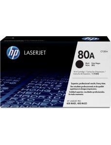 HP 80A - Negro - original - LaserJet - cartucho de tóner (CF280A) - para LaserJet Pro 400 M401, MFP CF280A - Imagen 1